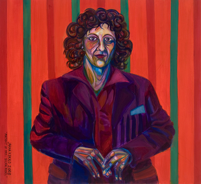Portrait of Frau Silvia Rodel   (a Holbein Variation) 2008 -110x120 cm - Acryl on Canvas -
